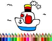 Раскраска: Лодки и корабли