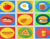 Мемори с едой