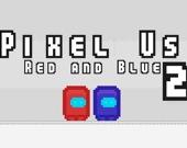 Пиксельные Амонг Ас: красный и синий 2