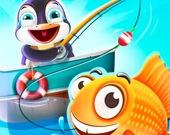 Пингвин на рыбалке