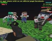 Блочный бой: Война с зомби