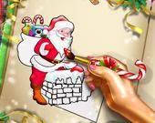 Раскраска: Рождественский Санта