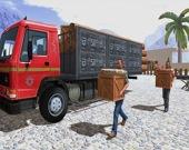 Вождение грузовика в горах Азии