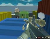Стрельба блочного боевого спецназа на выживание