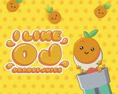 Мне нравится апельсиновый сок OJ