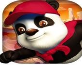 Панда сшестом