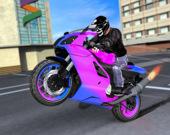 Гонка спортивного мотоцикла