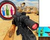 Снайперская стрельба по бутылкам