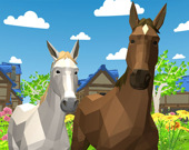 Лошадиная семья. Симулятор животных 3D