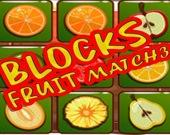 Фруктовые блоки: три-в-ряд