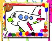 Самолет: Книжка-Раскраска