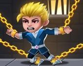 Спасение героя: головоломка с булавками