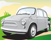 Старинные немецкие автомобили: игра-пазл