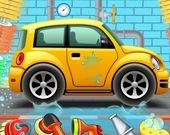 Детская автомойка в гараже