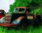 Старые ржавые грузовики - Пазл