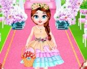 Малышка Тейлор на свадьбе: цветочная девочка