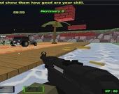 Блочный бой: Столкновение с зомби