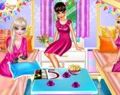 Пижамная вечеринка принцесс с ночёвкой