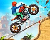 Рисованный мотоциклист