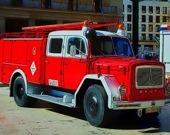 Пожарная машина - Пазл