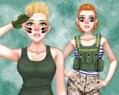 Принцессы - военная мода