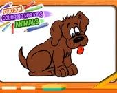 Мультяшная раскраска для детей: животные
