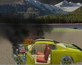 Случайный снос: крушение скоростного автомобиля