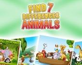 Найди 7 отличий: животные