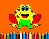 Забавная лягушка - Раскраска