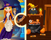 Пазлы Дом ведьмы на Хэллоуин