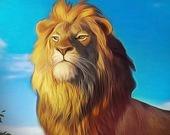 Нападение грозного льва