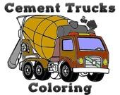Раскрась цементовоз