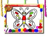 Бабочка: Раскраска