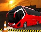 Парковка современного автобуса