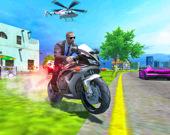 Водитель полицейского мотоцикла
