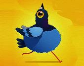 Пазл: Мультипликационный голубь