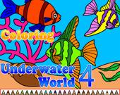 Раскраска: Подводный мир 4