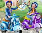 Поездка принцессы на мотороллере