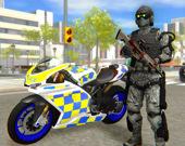 Симулятор мотоцикла городской полиции