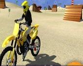 Мотоцикл: трюки на пляже