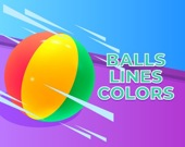 Мяч и цветные линии