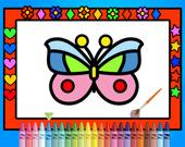 Раскрась и укрась бабочек
