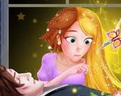Длинноволосая принцесса спасает принца