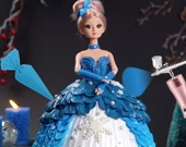 Укрась торт-куклу