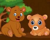 Пазл: медвежата