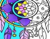 Мандала - Раскраска для взрослых