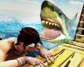 Охота на акул на плоту