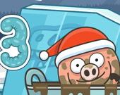 Свинка в луже. Рождество