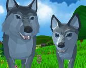 Дикие животные 3D: Волк
