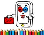 Раскраска: мобильные телефоны